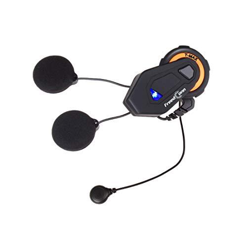 COFFEE CAT Interfono Casco Bluetooth per Moto Duplex Interphone Walkie Talkie 6 Riders Group Helmet 1000m / Radio FM/Manos Libres