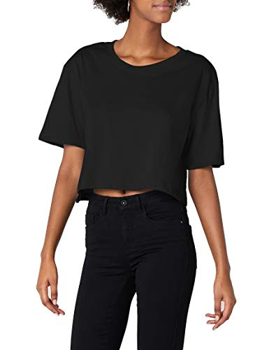 Urban Classics TB1555 Damen T-Shirt Ladies Short Oversized Tee Black, XS