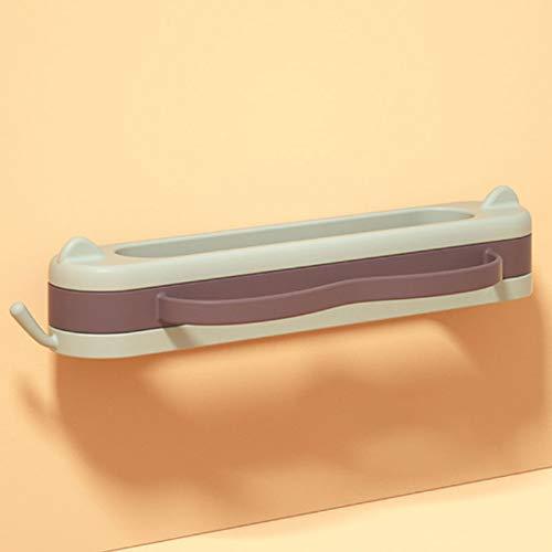 Almacenamiento de zapatos Baño puerta del bastidor simple baño de pared Zapatilla Estante de pared Punch-libre de pared plegable de zapatos de almacenamiento en rack Zapatero ( Color : 2 pack )
