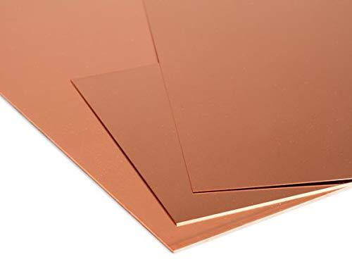 Kupferblech 5mm Platten Cu 99% Blech Kupferplatte Zuschnitt wählbar Wunschmaß möglich 100x100mm