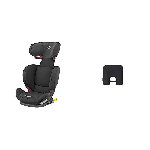 Maxi Cosi RodiFix AirProtect (AP) Kindersitz Gruppe 2/3, ISOFIX-Sitzerhöhung, optimaler Seitenaufprallschutz, 3,5-12 Jahre, 15-36 kg, (schwarz) Authentic Black + Maxi-Cosi e-Safety