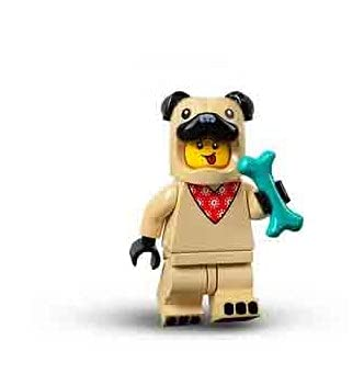 Lego® 71029 Minifiguren Serie 21 Figur Nr 5 Mann mit Mops-Kostüm