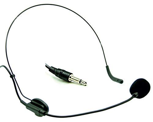 Audibax Auriculares con Micrófono, Auriculares de Diadema, Flexo Ajustable para Ángulo Óptimo, Incluye Espuma Paravientos, Conexión Mini Jack-Mono, Tipo Cardioide, Producto Reacondicionado