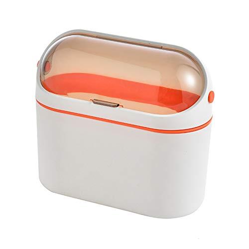 Papeleras La basura de la mesa de escritorio para el hogar puede colgar la papelera para la puerta del gabinete con la tapa de la bandeja de la bata de la pelota de la pared pequeña para el baño del d