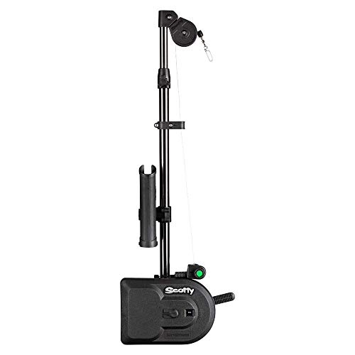 Scotty #1106 Depthpower Electric Downrigger w/ 60-Inch Telescopic Boom & Swivel Base, Rod Holder