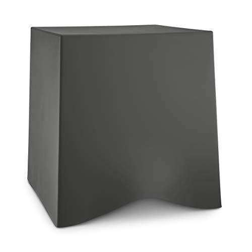 Koziol BRIQ - Sgabello in plastica termoplastica, 428 x 406 x 416 mm, colore: Grigio scuro