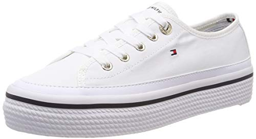 Tommy Hilfiger Corporate Flatform Sneaker, Zapatillas para Mujer