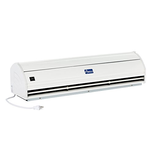 Awoco 48' Elegant 2 Speeds 1200CFM Commercial Indoor Air Curtain, UL Certified, 120V Unheated - Door Switch Included
