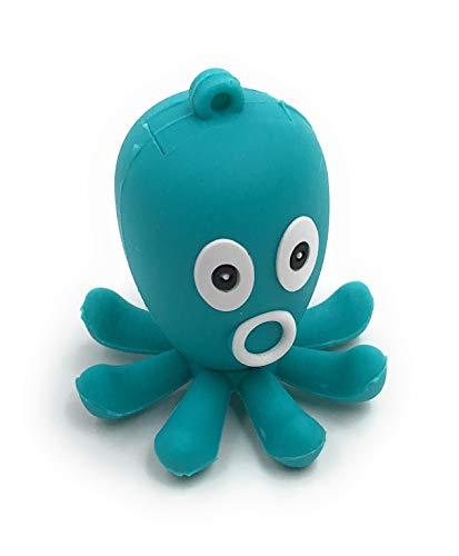 Onlineworld2013 Krake - Chiavetta USB a forma di pesce d'octupo, colore: turchese/verde 128 GB USB 3,0