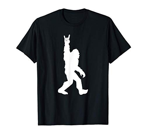Funny Bigfoot Rock and Roll Tshirt for Sasquatch Believers T-Shirt