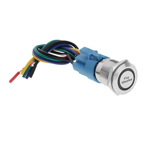 Milageto Accesorio de Reparación de 12 Voltios Del Interruptor Del Encendedor Del Coche Del Botón Pulsador de Los Misiles de Fuego