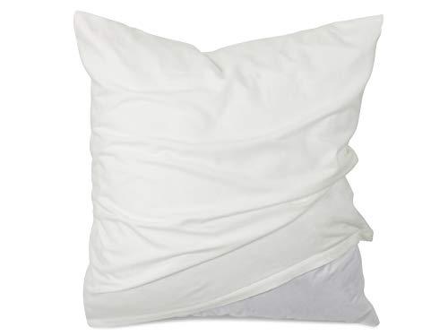 Dormisette Kissenschutzbezüge aus Feinflanell - Markenqualität Schutz vor Verunreinigungen durch Schweiß und Kosmetika - erhältlich in 2 verschiedenen Größen, 80 x 80 cm
