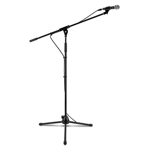 AUNA KM 02 Set Microfono Dinamico Con Stativo Asta con...