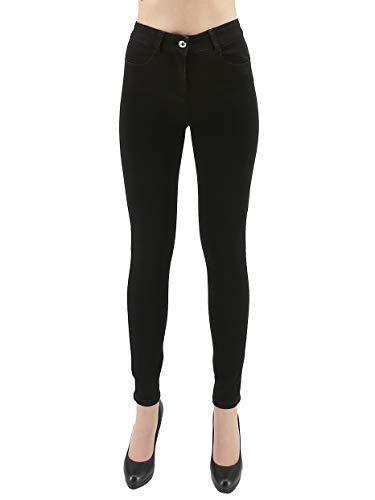 PATRIZIA PEPE Pantalone Nero Jeans Donna Skinny Caviglia in Cotone (31)