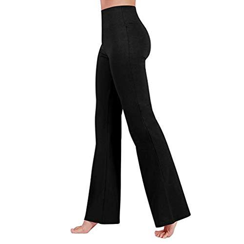 Lulupi Damen Schlaghose Yogahose Weite Sporthose High Waist Bootcut Leggings Fitness Yoga Hose Lange Stretch Jogginghose
