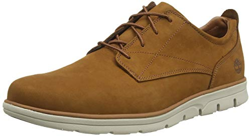 Timberland Bradstreet Plain Toe Sensorflex, Zapatos de Cordones Oxford para Hombre, Marrón Rust Nubuck, 44 EU