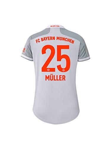 FC Bayern München Damen Away-Trikot Auswärts Saison 2020/21, Gr. M, Thomas Müller