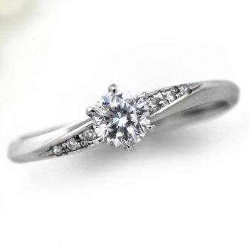 婚約指輪 ケース付 ダイヤモンド プラチナ 0.4カラット 鑑定書付 0.412ct Eカラー VS1クラス 3EXカット H&C CGL サイズ11号