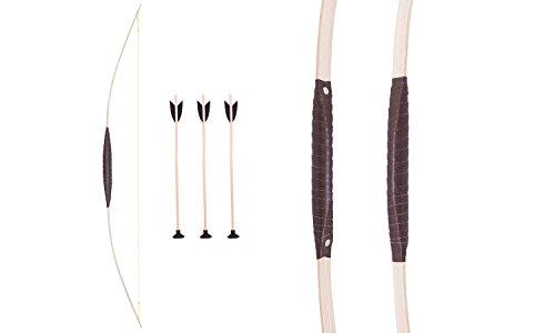 Kinder-Bogen 120 cm, Pfeil und Bogen set inkl. 3 passender Pfeile, aus hochwertigem Esche-Holz, geeignet für Kinder ab 6 Jahren