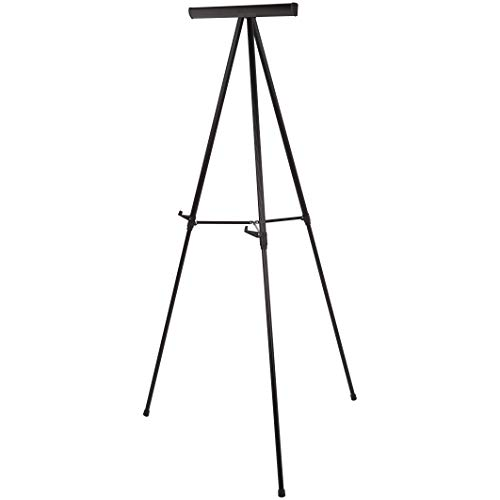 AmazonBasics Heavy Duty Presentation Display Stand Easel, Adjustable Height Telescope Tripod