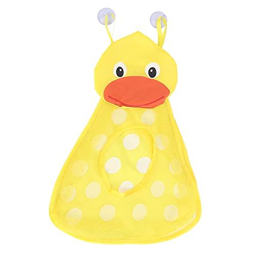 BOINN Organizador de juguetes para el baño, para guardar juguetes para niños pequeños, bolsa de almacenamiento para juguetes de baño, secado rápido, con 2 fuertes patos