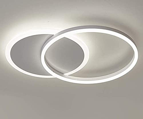 Lámpara de Techo LED, candelabro de Montaje Empotrado Moderno, luz Redonda de 37 W, iluminación de Techo Blanca fría de 6500 K para Sala de Estar, Pasillo, Dormitorio, vestíbulo