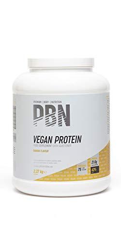 PBN Premium Body Nutrition - Bote de proteínas para veganos, 2.27 kg (Paquete de 1), sabor Plátano