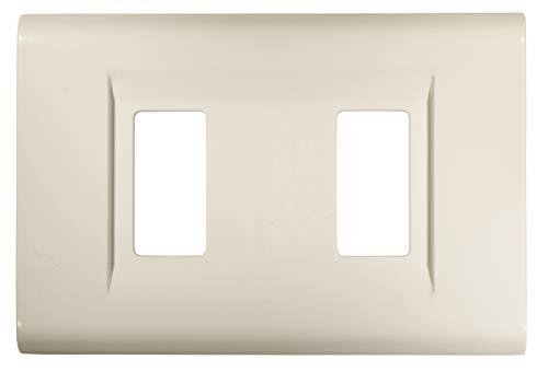 FEB 2582/WH Placca Click a 2 Moduli, Bianco