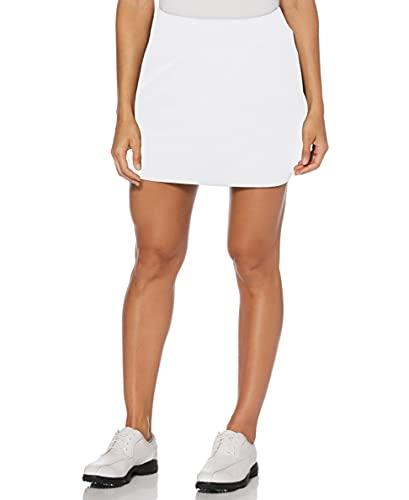 "PGA TOUR Women's Airflux 16"" Golf Skort with Tummy Control Waistband, Bright White, Medium"