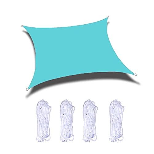 PROTECCIÓN DE Sol Azul Shade Bail, Toldo Al Aire Libre Es Resistente A Los Rayos UV E Impermeable, Ligero Y Fácil De Plegar Y Transportar, Adecuado para El Jardín De Camping Y El Patio,2.5 * 2.5m