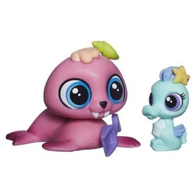 Littlest Pet Shop Duo GRIFFÉ - Wallace Waterman ET Sally SEAFORTH Petshop #3818 - #3819