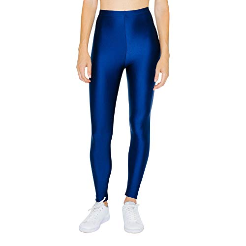 American Apparel Damen Nylon Tricot Leggings, Kobalt, X-Groß
