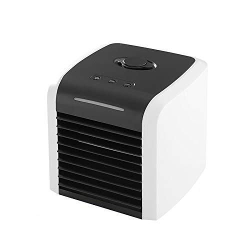 Raffreddatore d'aria portatile, per casa d'ufficio - Ricarica USB, nuovo aggiornamento, aria silenziosa, USB, condizionatore d'aria con luce a LED, piccoli elettrodomestici portatile