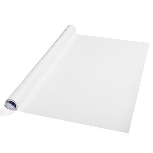 Moderne Whiteboardfolie | beliebig oft beschreibbar | selbstklebend auch auf glatte Flächen | Trendfarbe weiß | 43x300 cm