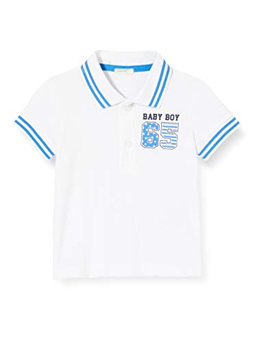United Colors of Benetton Baby-Jungen Maglia Polo M/m Poloshirt, Weiß (Bianco 101), 74