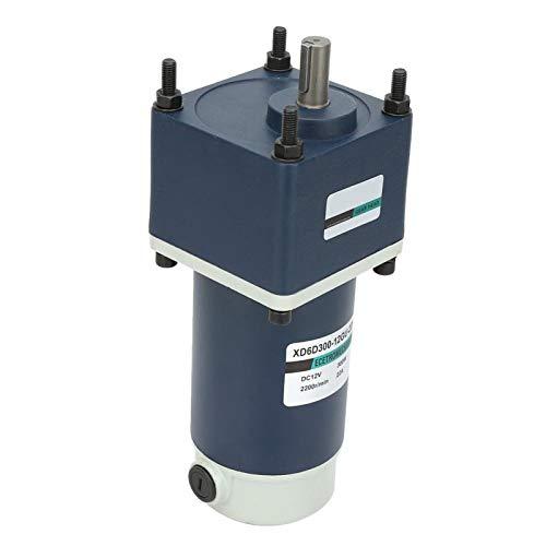 Motor de imán permanente de CC, engranaje metálico 12V 300W Reductor de engranajes Mejor estabilidad Eje de 15 mm para equipos mecánicos(20 RPM)