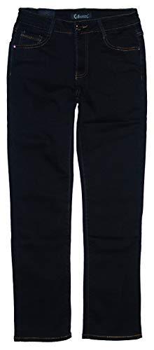 m.g.fashion Damen Thermo Stretch Jeans Hose, gefüttert, Dark-darkblue (AEM-NOR-2202), W39 / Size 39