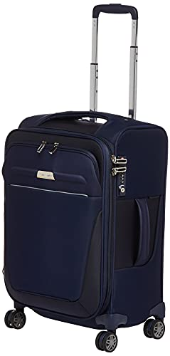 Samsonite B'Lite 4 Softside Spinner Suitcase, 55cm, Navy
