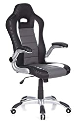 hjh OFFICE 621710 Racing executive chair RAYCER Sport synthetic leather gray / black Gaming chair Office chair, armrests foldable