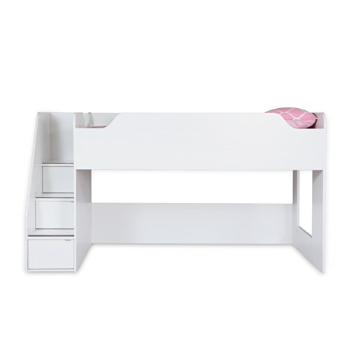 South Shore Mobby 39-Inch Loft Bed Stairs, Twin, Pure White