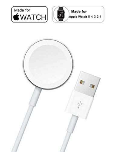 Kdely Cargador para Apple Watch,1M Cargador Magnética para iWatch Cargador Magnética para Apple Watch 38mm,40mm,42mm,44mm/Apple Watch Series 1/2/3/4/5