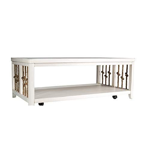 Liberty Furniture Industries Dockside II Cocktail Table, W48 x D28 x H19, White