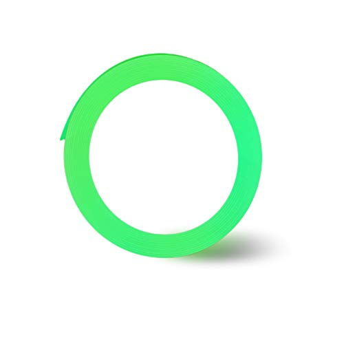 Nastro Luminoso,Verde Fluorescente Luminoso Nastro,Nastro Sicurezza Luminoso Autoadesivo per Segnaletica di Sicurezza Decorazione per Feste (5M)