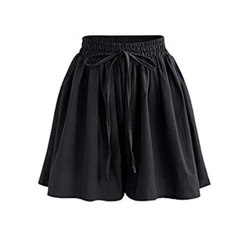 SKKG Damen Hosen Shorts Sommer Hotpants Bermudas Ultra Jeans Leggings Strand Laufgymnastik Yoga Der Sporthosen Schlafanzughosen - Streifen Print Elastic Beach