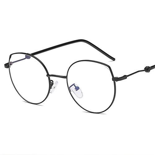 P-WEIAN Bril trend vlinder decoratie platte spiegel ultra licht metalen bril frame mannen en vrouwen tee bril