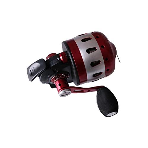 RKRXDH Carretes de Lanzamiento de Cebo Carretes de Pesca Relación de Velocidad 3.6: 1 para tirachinas Disparo de Peces Rueda de Bobina metálica Cerrada Rueda de Pesca Rueda Carretes de Pesca girando