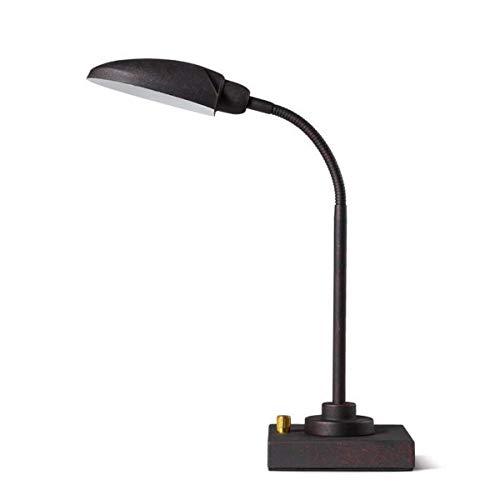 JIAHONG Lámpara de mesa de Simple y elegante Tabla Lámparas, creativo retro Industrial Aire Hierro Eye Study La Mesilla de noche lámparas, lámparas de escritorio, los niños que trabajan Rines decorati