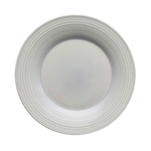 The Plate Co. YC-Plato Bandeja de Pasta con Rosca de cerámica para filetes/bandejas de Postre/Occidental para niños Adultos y niños pequeños (1 Paquete) (Color : Beige, tamaño : 28x28x3.5cm)