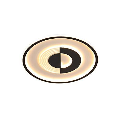 WSJZ Plafón LED Redondo Lámpara De Techo Ultrafina De 5 Cm Araña De Luces De Metal Moderna Lámpara De Techo Empotrada Dormitorio Cuarto De Baño Cocina Pasillo Oficina Negro,White Light,96WØ60CM