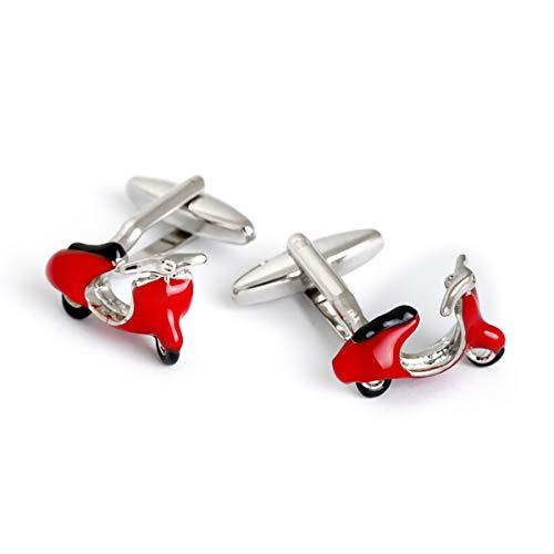 Cufflez Cufflinks – Manschettenknöpfe, das MUSS zu jedem Outfit – Roter Motorroller
